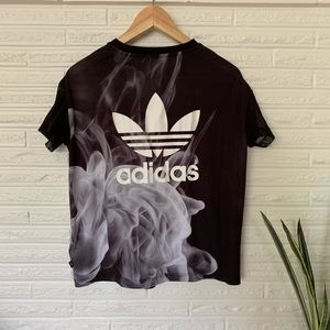 adidas Tops - adidas Originals Rita Ora black smoke tee